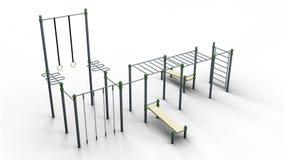 Uliczna sporta 4 stojaka 3d ilustracja odpłaca się Zdjęcia Royalty Free