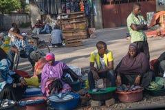 Uliczna sprzedaż w Kamiennym miasteczku na Zanzibar Tanzania fotografia stock