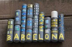 Uliczna sztuka - Barcelona Fotografia Royalty Free