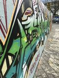 Uliczna sztuka blisko Berlin zdjęcia royalty free