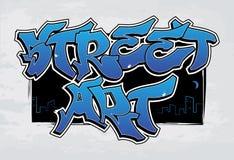 Uliczna sztuka - graffiti royalty ilustracja