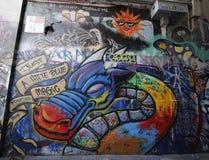 Uliczna sztuka jest jeden ważny turysty przyciąganie w Melbourne Zdjęcie Royalty Free