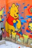 Uliczna sztuka Montreal Winnie pooh Zdjęcie Royalty Free