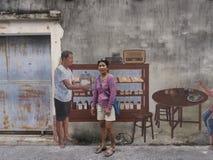 Uliczna sztuka na ścianie w Songkhla Tajlandia Zdjęcia Royalty Free