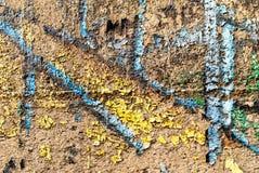 Uliczna sztuka - stary graffiti na ścianie Fotografia Royalty Free