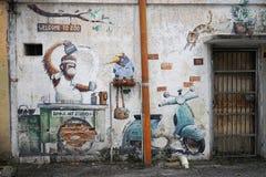 Uliczna sztuka Streetart w Malezja fotografia stock