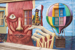 Uliczna sztuka Valparaiso Zdjęcia Stock