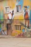 Uliczna sztuka Valparaiso Obrazy Royalty Free