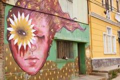 Uliczna sztuka Valparaiso Zdjęcia Royalty Free