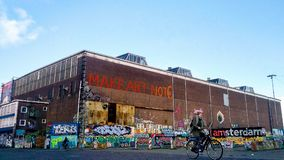 Uliczna sztuka w Amsterdam północy Amsterdam obraz stock