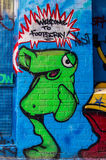 Uliczna sztuka w Footscray, Australia Fotografia Royalty Free