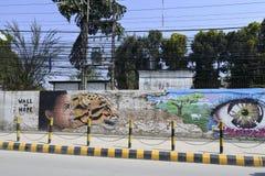 Uliczna sztuka w Kathmandu, Nepal Fotografia Royalty Free