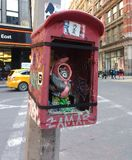 Uliczna sztuka w Miasto Nowy Jork, NYC, NY, usa zdjęcia stock