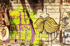 Uliczna sztuka w Panamskim mieście, Obraz Royalty Free