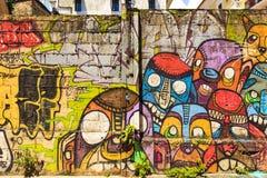 Uliczna sztuka w Panamskim mieście, Obrazy Royalty Free