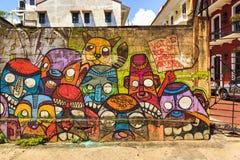 Uliczna sztuka w Panamskim mieście, Fotografia Royalty Free