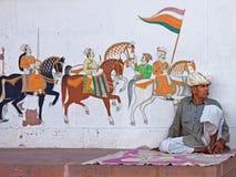 Uliczna sztuka w Rajasthan Obraz Royalty Free