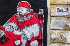 Uliczna sztuka w Rzym Obrazy Stock