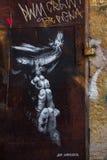 Uliczna sztuka w Rzym Zdjęcia Royalty Free