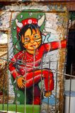 Uliczna sztuka w valparaÃso Zdjęcia Stock