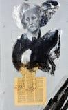 Uliczna sztuki haft mężczyzna haft karmazynka Obrazy Royalty Free
