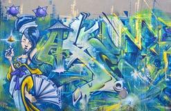 Uliczna sztuki Montreal kobieta Obrazy Royalty Free