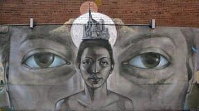 Uliczna sztuki Montreal kobieta Obrazy Stock