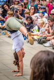 Uliczne akrobacje Fotografia Royalty Free