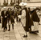 Uliczne sceny Wenecki karnawał Fotografia Stock