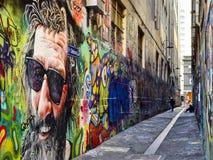 Ulicznej sztuki Zrzeszeniowy pas ruchu Melbourne 3 Obraz Royalty Free