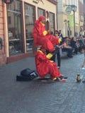 Uliczni artyści w Heidelberg obraz royalty free