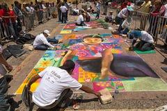 Uliczni artyści w San Cristobal De Las Casas Meksyk zdjęcie stock