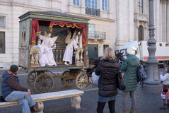 Uliczni artyści w Rzym Fotografia Royalty Free