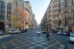 Uliczni Barcelona rozdroża obraz stock