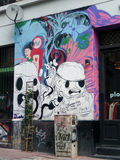 Uliczni graffiti Zdjęcie Royalty Free