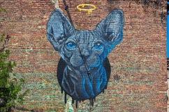 Uliczni graffiti na ścianie obrazy royalty free
