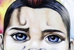 Uliczni graffiti w Nikozja Cypr zdjęcia royalty free
