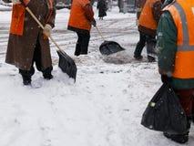 Uliczni janitors Obraz Royalty Free