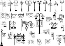 uliczni lampionów znaki Zdjęcie Royalty Free