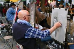 Uliczni malarzi - Paryż Fotografia Royalty Free