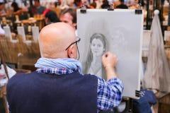 Uliczni malarzi - Paryż Zdjęcia Stock