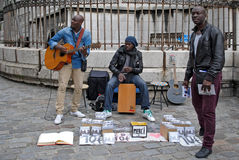 Uliczni muzycy. Zdjęcia Stock