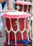 Uliczni muzycy i bębeny Fotografia Royalty Free