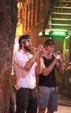 Uliczni muzycy wykonuje w Austin obrazy stock