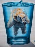 Uliczni sztuka graffiti martwiący się o globalnym ociepleniu ilustracja wektor