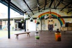 Uliczni sztuki i graffiti obrazy na ścianach architektura Fotografia Royalty Free
