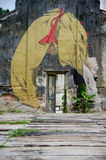 Uliczni sztuki i graffiti obrazy na ścianach architektura Obrazy Stock