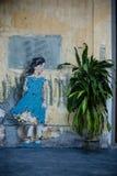 Uliczni sztuki i graffiti obrazy na ścianach architektura Fotografia Stock