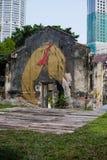 Uliczni sztuki i graffiti obrazy na ścianach architektura Zdjęcie Stock