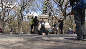 Uliczni wykonawcy, central park, NYC zbiory